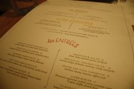 The Menu at Claudette