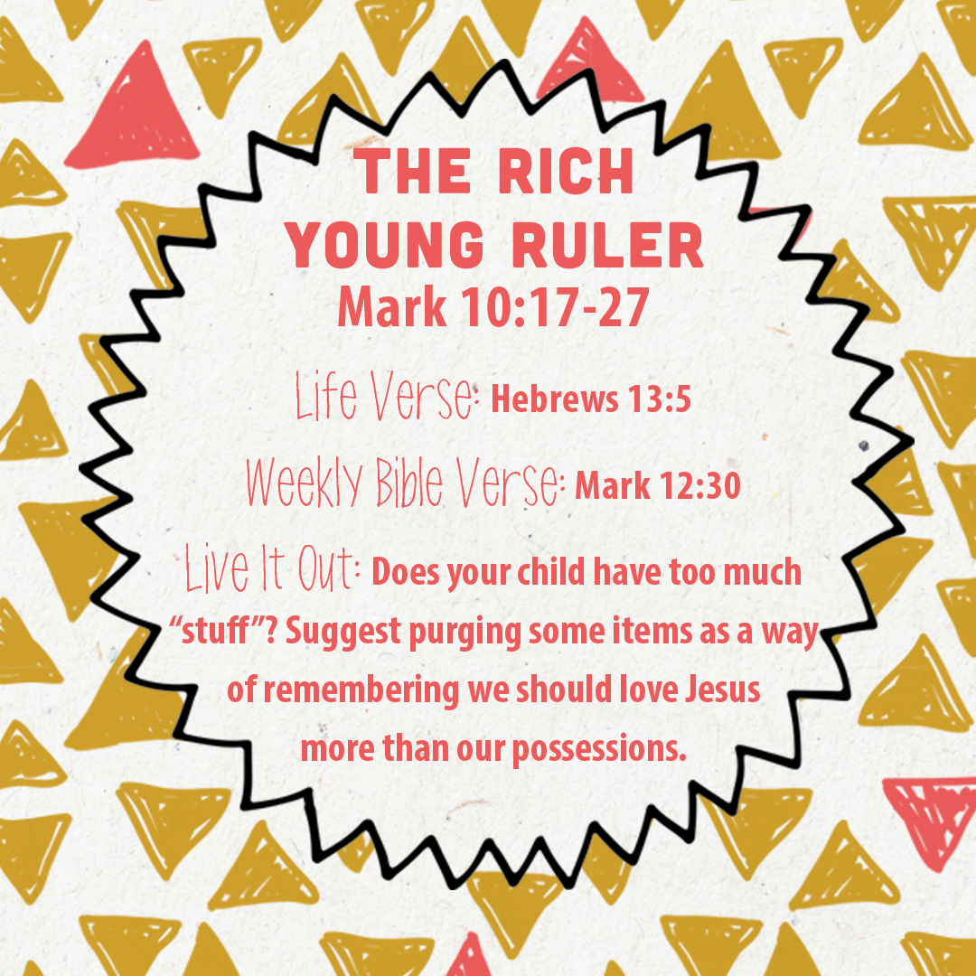 Week Of July 17 The Rich Young Ruler Social Media Plan