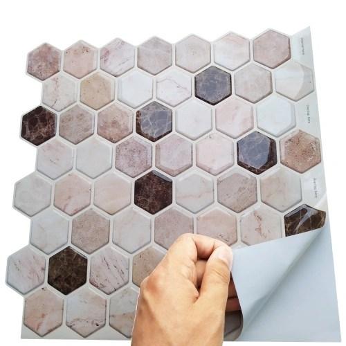 peel stick waterproof self adhesive wall tiles bathroom