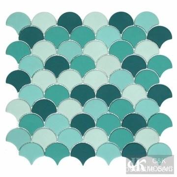 mosaic floor tiles black glass mosaic