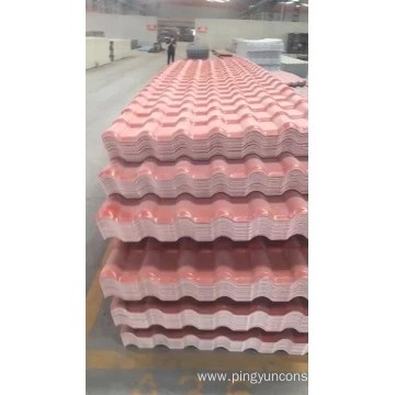 plastic roof tile manufacture and