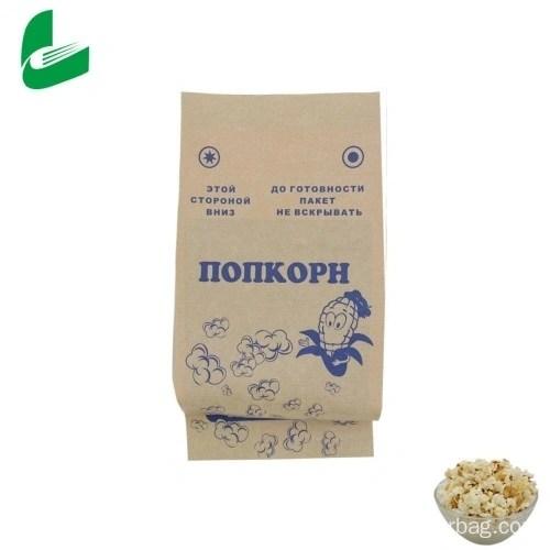 brown kraft greaseproof paper bag for