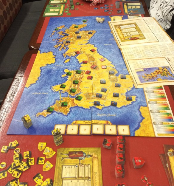 Britannia set up and ready to play.