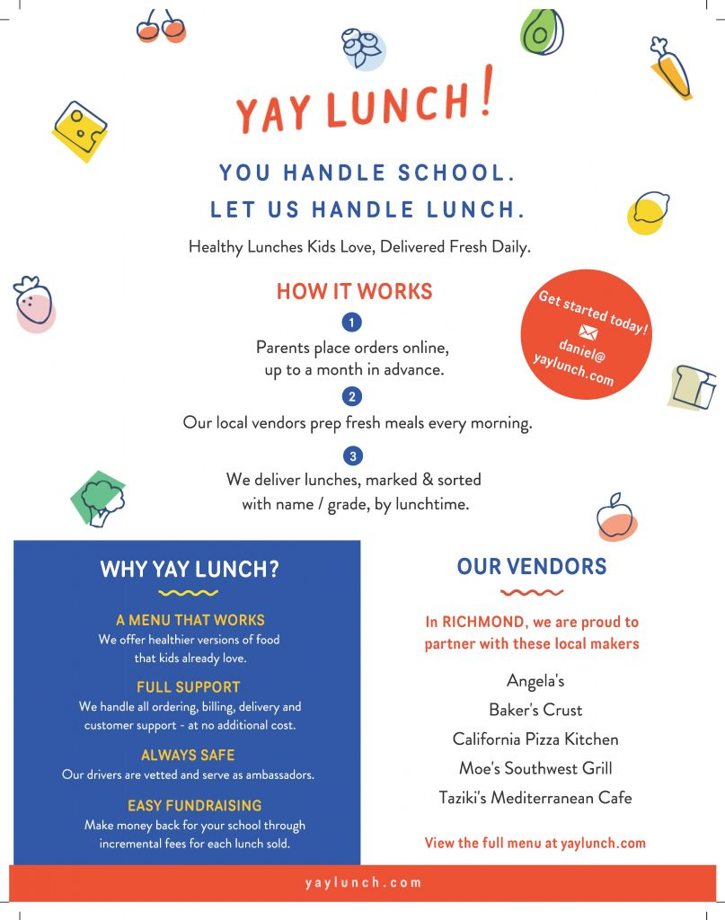 YAY LUNCH! FLYER 2019-2020
