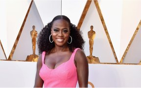 1520243563 viola davis is living her best life at the oscars in this barbie pink dress 1