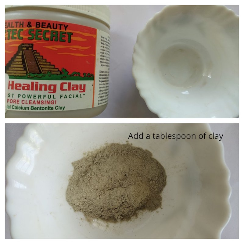 Homemade Winter Detox Mask with Aztec clay step 1
