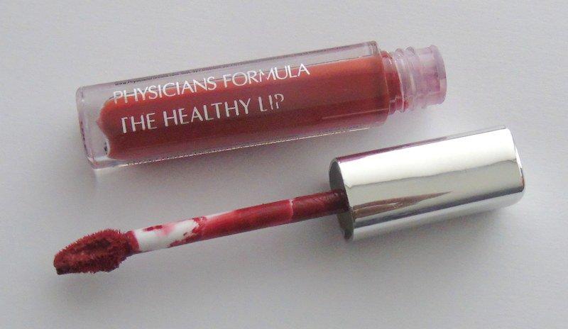 Physicians Formula The Healthy Lip Velvet Liquid Lipstick Redstorative Effects open tube