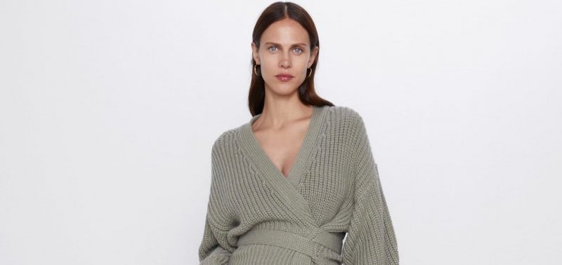 Zara Cropped Belted Cardigan Marquee landscape cropped