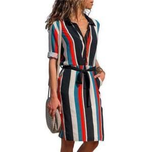 kissbella dresses black s women s bohemian striped long sleeve dress