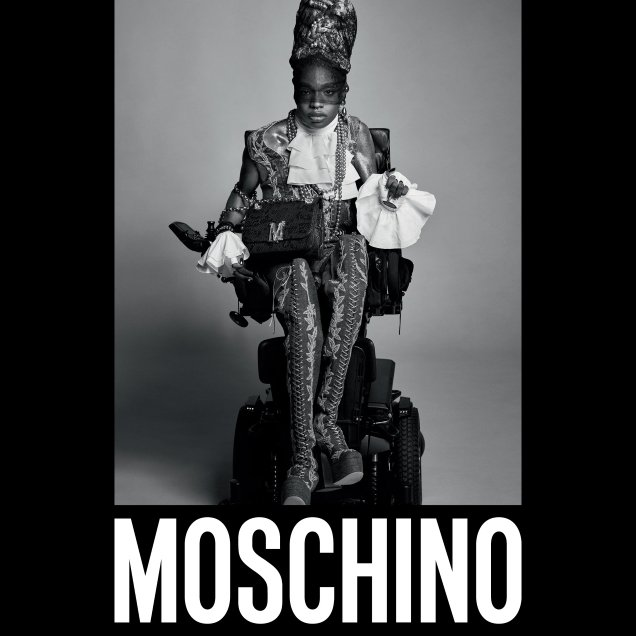 Moschino F/W 2020.21 : Aaron Philip by Luigi & Iango