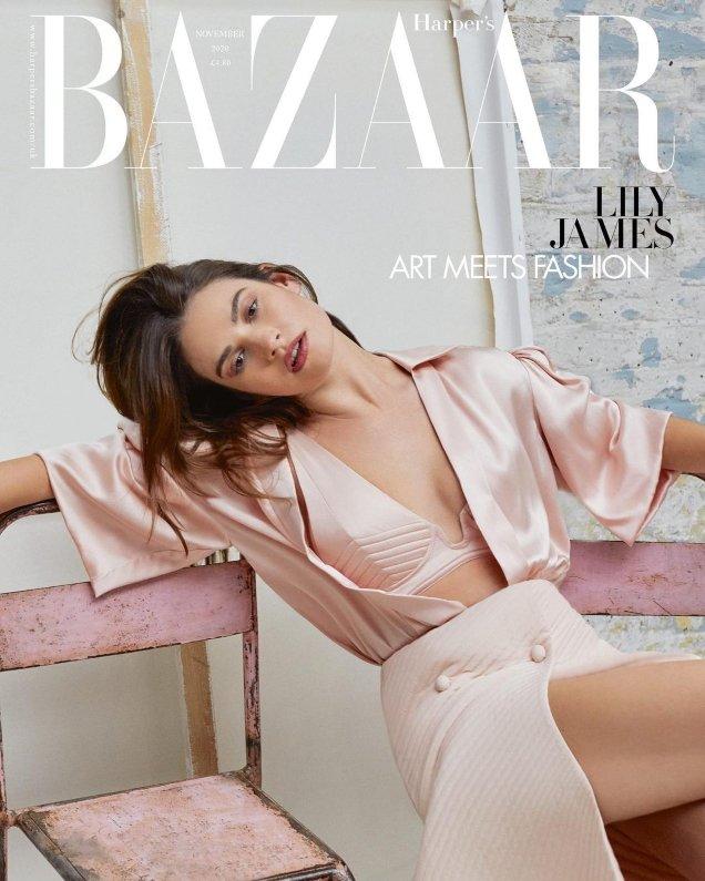 UK Harper's Bazaar November 2020 : Lily James by Agata Pospieszynska
