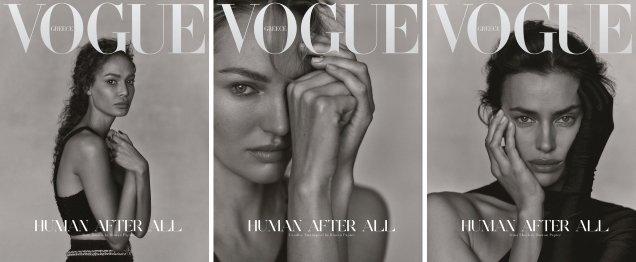 Vogue Greece December 2020 : Candice Swanepoel, Irina Shayk & Joan Smalls by Rowan Papier