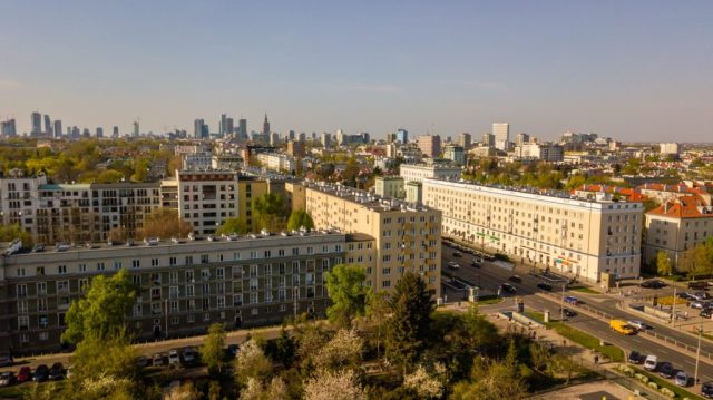 Sesja lotnicza dron Warszawa