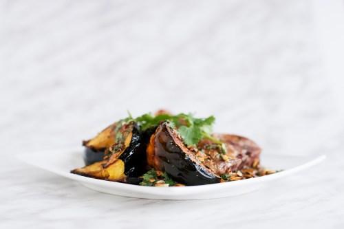 Pork Chop & Acorn Squash with Squash Seed Vinaigrette   bsinthekitchen.com #dinner #pork #bsinthekitchen