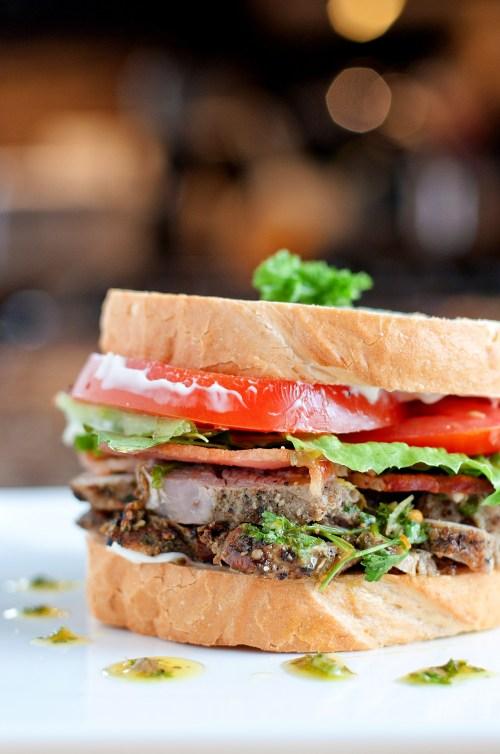 Pork & Salsa Verde Sandwich   bsinthekitchen.com #sandwich #leftovers #bsinthekitchen