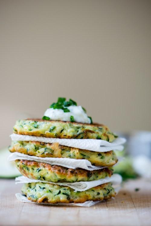 Zucchini Fritters | bsinthekitchen.com #zucchini #appetizer #bsinthekitchen