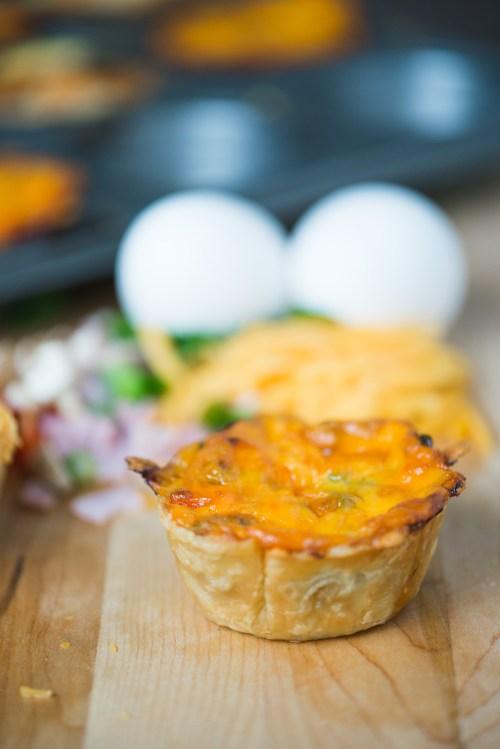 Mini Breakfast Strata | bsinthekitchen.com #breakfast #appetizer #bsinthekitchen