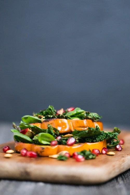 Winter Squash Salad | bsinthekitchen.com #salad #squash #bsinthekitchen