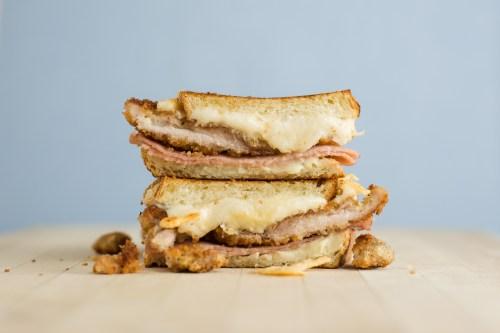 Chicken Cordon Bleu Grilled Cheese   bsinthekitchen.com #grilledcheese #sandwich #bsinthekitchen