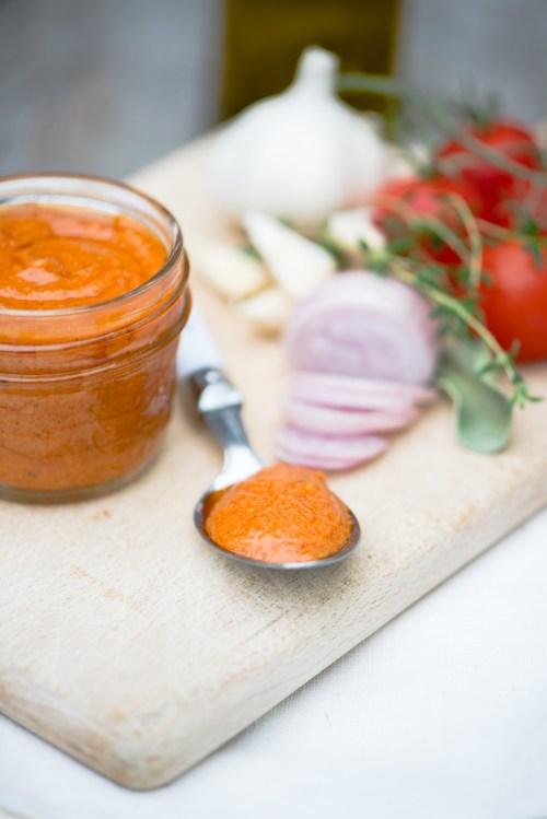Tomato Coulis | bsinthekitchen.com #tomato #condiment #bsinthekitchen