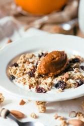 Pumpkin Spice Yogurt Parfait | bsinthekitchen.com #pumpkinspice #breakfast #bsinthekitchen