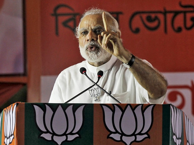 Prime Minister Narendra Modi addresses an election campaign rally in Kolkata. Photo: Reuters