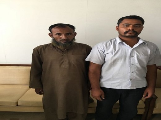 e two Indians, identified as Maulana Ramzan and Subhash Jangir, both residents of Rajasthan, were still being questioned for working with the Inter-Services Intelligence (ISI).