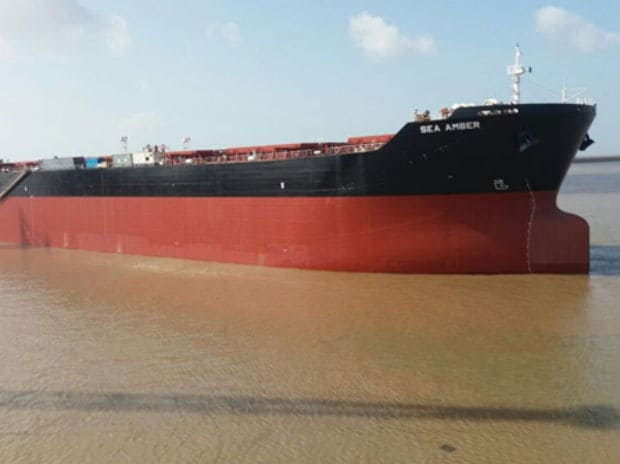 The Ice-class Panamax Bulk Carrier, Sea Amber, built by Reliance Defence and Engineering Limited for an un-named international shipping company