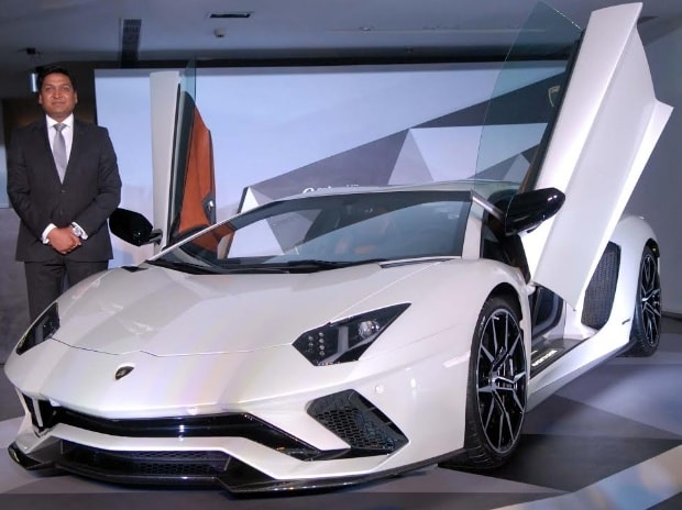 Sharad Agarwal, head of Automobili Lamborghini India during the launch of Lamborghini Aventador S in India. Photo: Kamlesh Pednekar