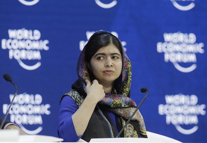 Malala Yousafzai,Malala on education,Nobel Peace Prize  winner,Taliban,World Economic Forum ,WEF 2018,women's right education, women education, gender equality