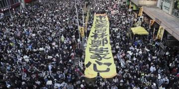Hong Kong: Tens of thousands turn up for half year protest anniversary