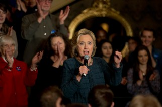 Hillary Clinton during a rally recently in Sioux City, Iowa. (Jae C. Hong / AP)