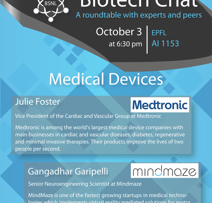 Biotech Chat – Medical Devices, October 3, 2017, AI1153 at EPFL