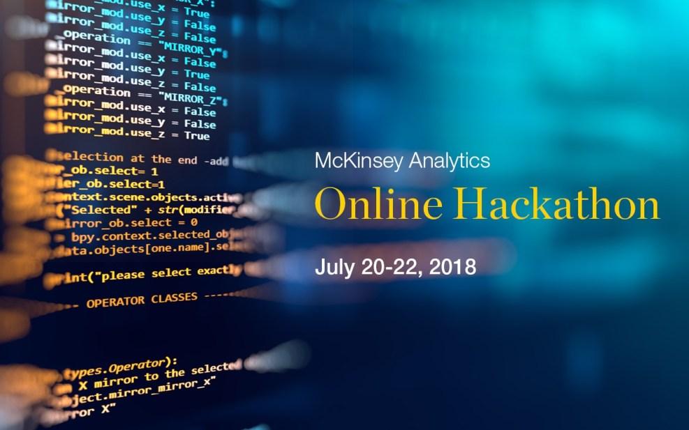 "BSNL recommends: ""McKinsey Online Hackathon, July 20-22"""