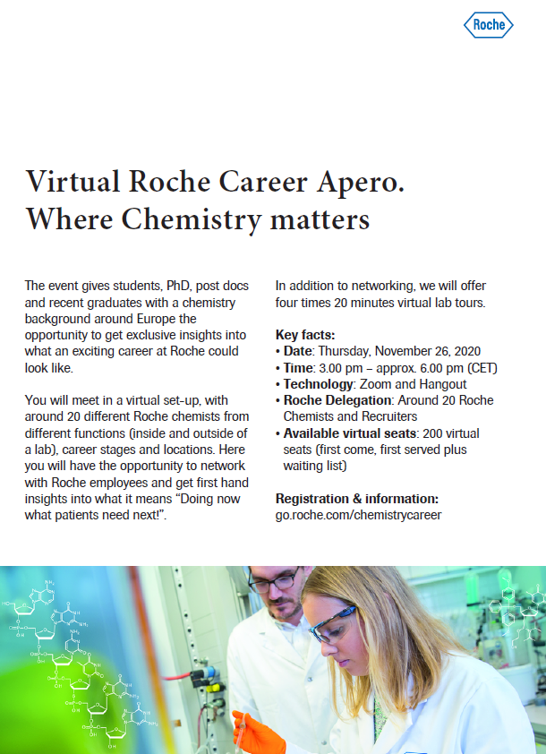 Virtual Career Apero – Roche, November 26th 2020