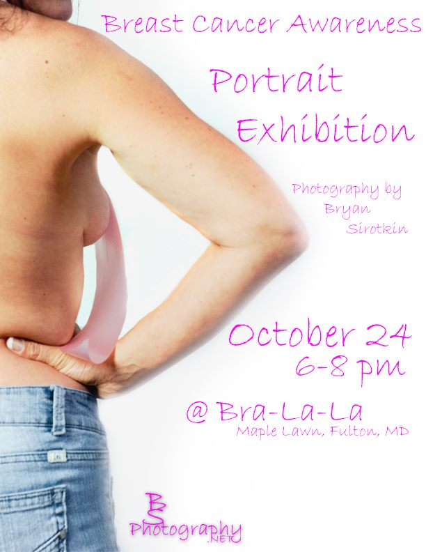 Portrait Exhibition at Bra-La-La in Maple Lawn, Fulton, MD October 24th, 2014 6-8pm