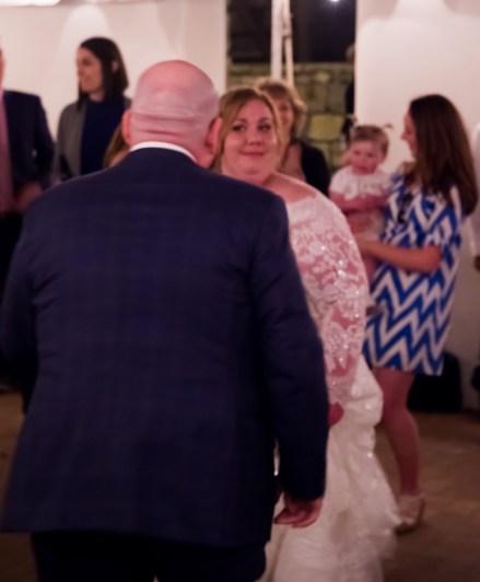 She even smiles when he dances badly.