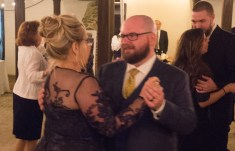 They were probably discussing how happy they were that the whole wedding was almost over.