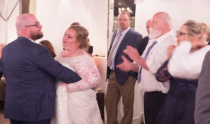 (L-R) Groom, Bride, some random wedding guest I don't know, Santa/Father of the bride, Mother of the bride...