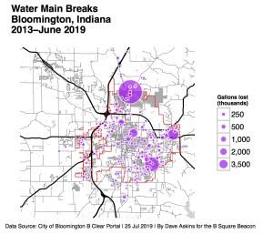 R Map Water Main Breaks NAxxxx