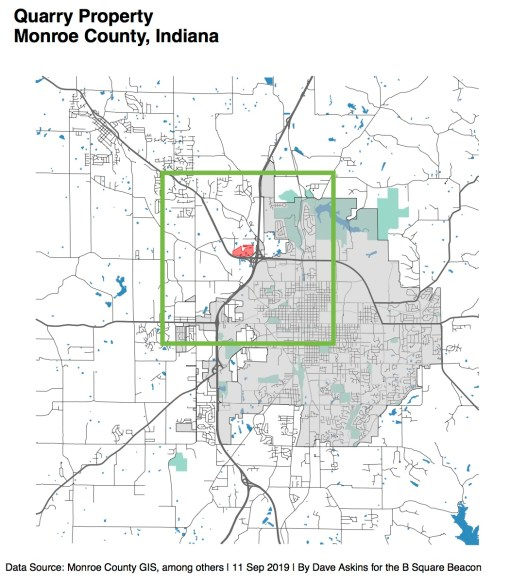 Low Res Annotated Green R Map Quarry Property County CouncilMonroe County Councilxxxx