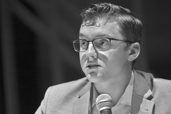 Andrew Guenther at a Sept. 17 candidate forum. (Dave Askins/Beacon)