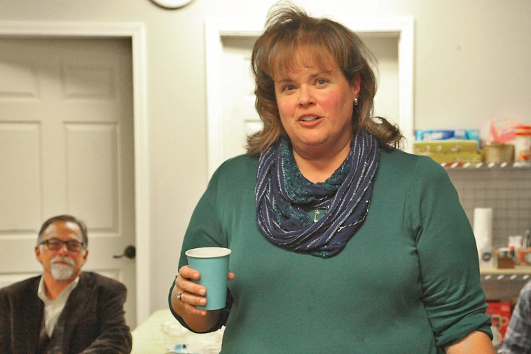 Sue Sgambelluri at Monroe County Democratic Party Headquarters on election night. (Dave Askins/Beacon)