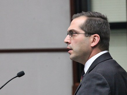 Mike Rouker, city attorney, addressing Bloomington's city council in December 2019.