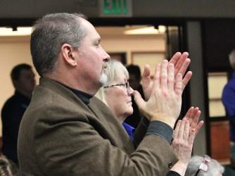 Councilmembers Dave Rollo and Susan Sandberg.
