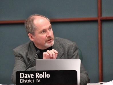 B Square file photo of Bloomington city councilmember Dave Rollo.
