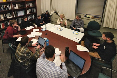 The Jack Hopkins social services funding committee met on Thursday, Feb. 27, 2020. (Dave Askins/Square Beacon)