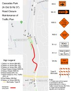 Map of road segment to be closed.