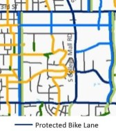 """Extracted from the Bloomington's """"full build bicycle network"""" in the transportation plan."""