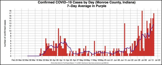 bordered R-OUT COVID DAILY CASES for Monroe July 17 article